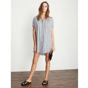 Faithfull the Brand Testoni Stripe Shirt Dress